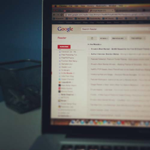 Google Reader on MacBook Pro