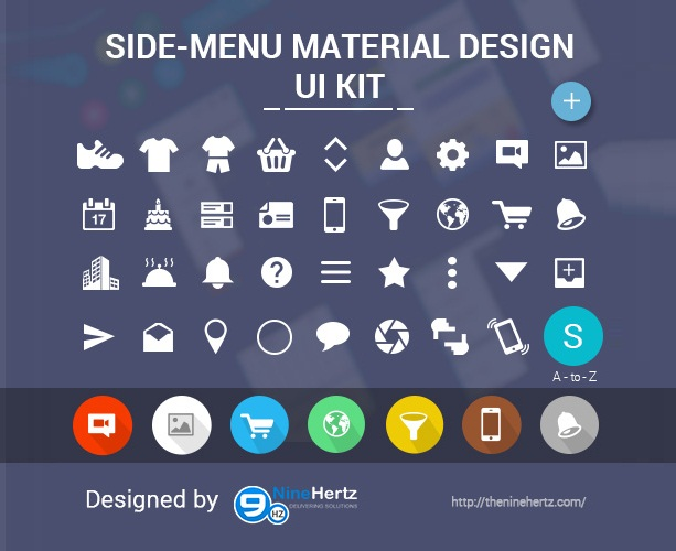 App Menu Design: Android Side Menu Design FREE