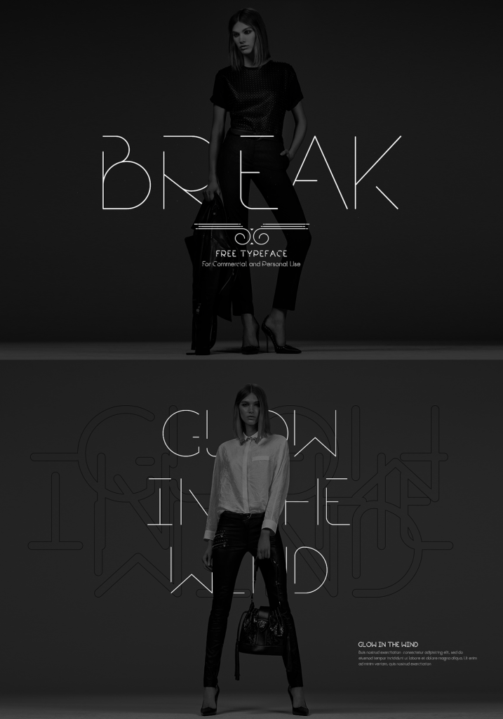 Break – A Modern Free Font