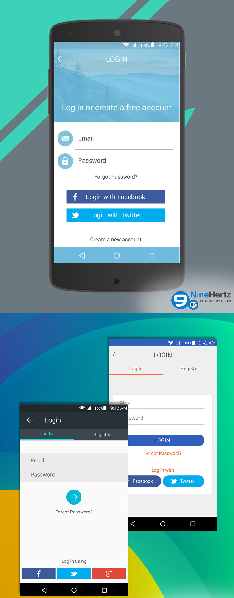 Login Screen UI Designs for Android Lollipop