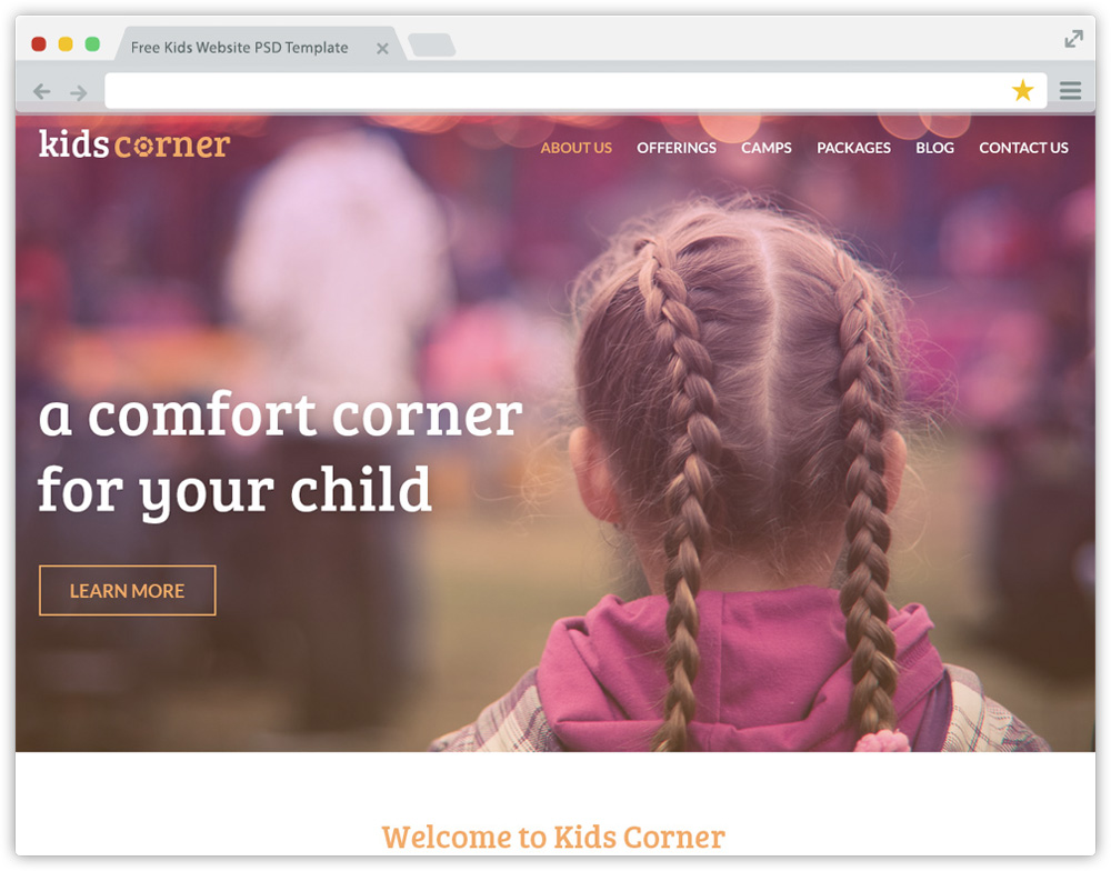 Kids Corner PSD Template-1