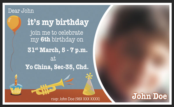 Designing a Print Ready Birthday Invitation Card in Photoshop Plus A Free PSD