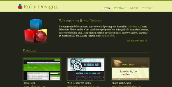 Ruby Designz Business Template