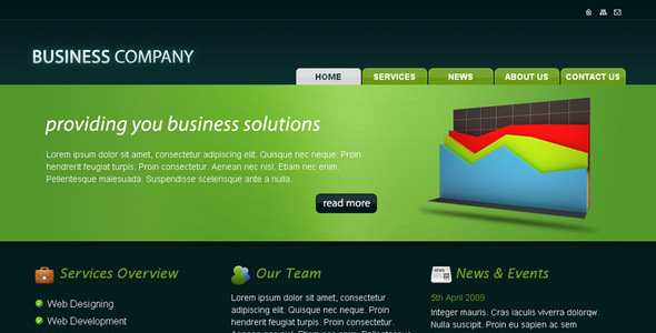 Business company html template rjdesignz wajeb Image collections