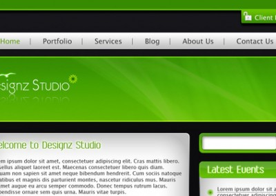 Green & Dark Business Template