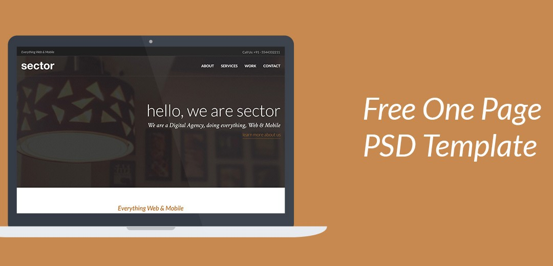 Sector- One Page PSD Template