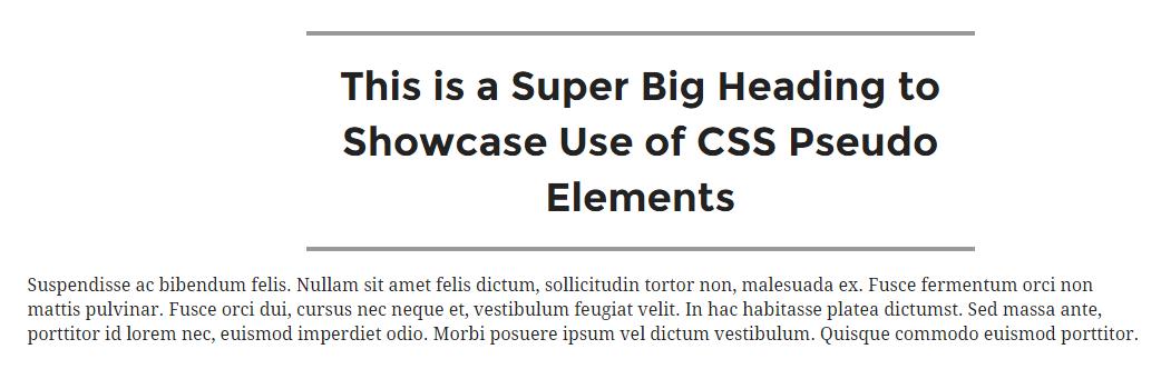 CSS Pseudo Element