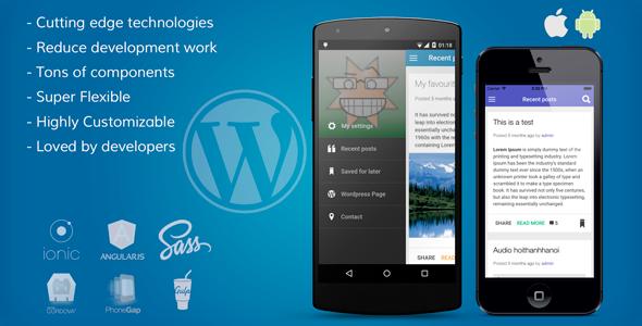 ionWordPress Mobile App