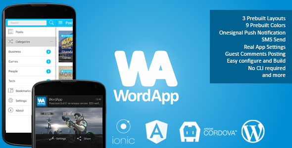 WordApp WordPress Mobile App