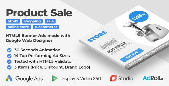 Store Product HTML5 Ad Templates